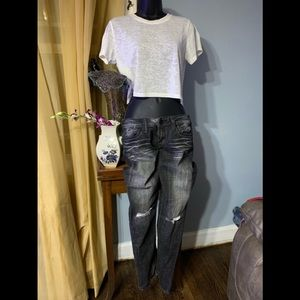 Express jeans size 2 and forever 21 Crop top